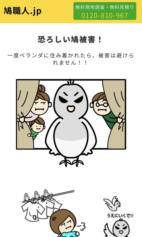 鳩の被害対策 鳩職人 様